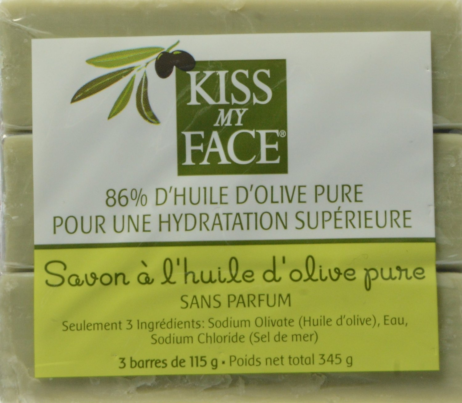 Kiss My Face Naked Pure Olive Oil Soap