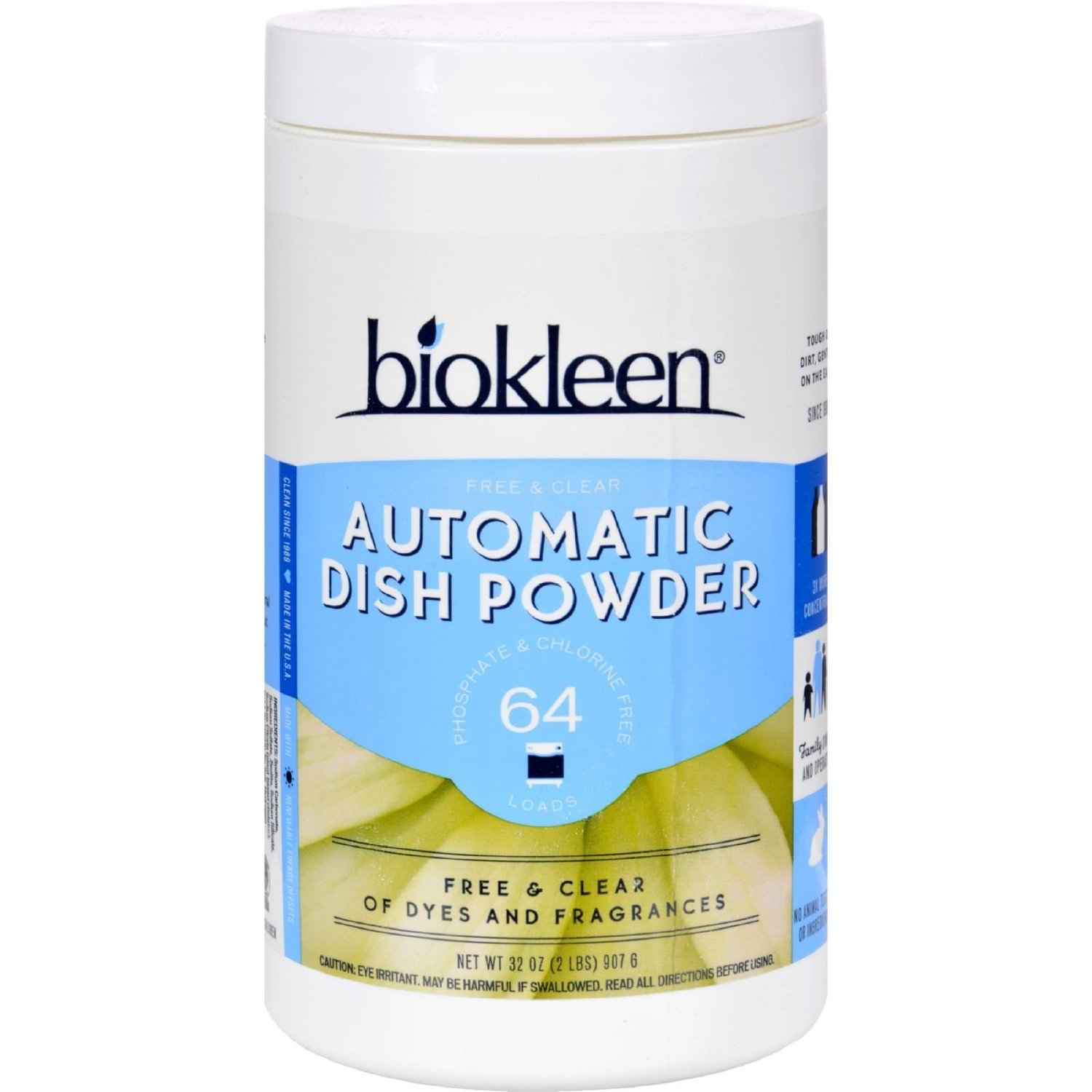 Biokleen Auto Dish Powder - Free And Clear