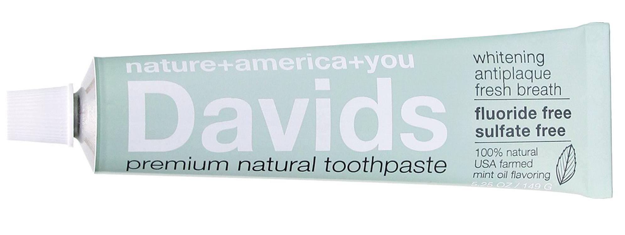 Davids Natural Toothpaste - FLAT