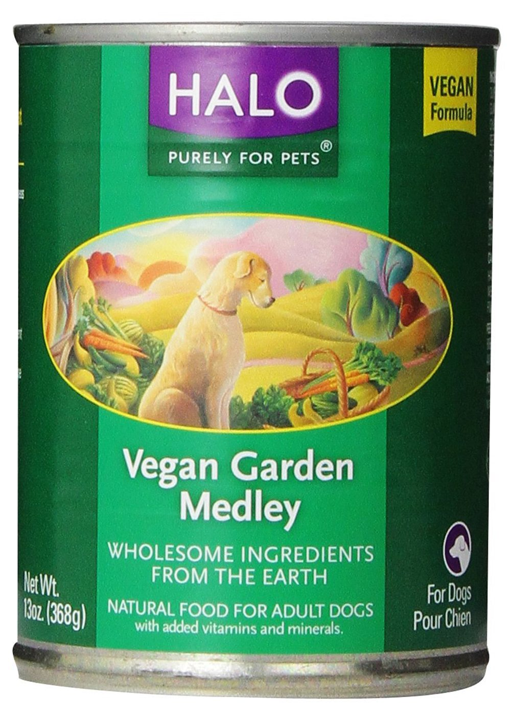 Halo Vegan Garden 12-Pack Medley Stew for Dogs
