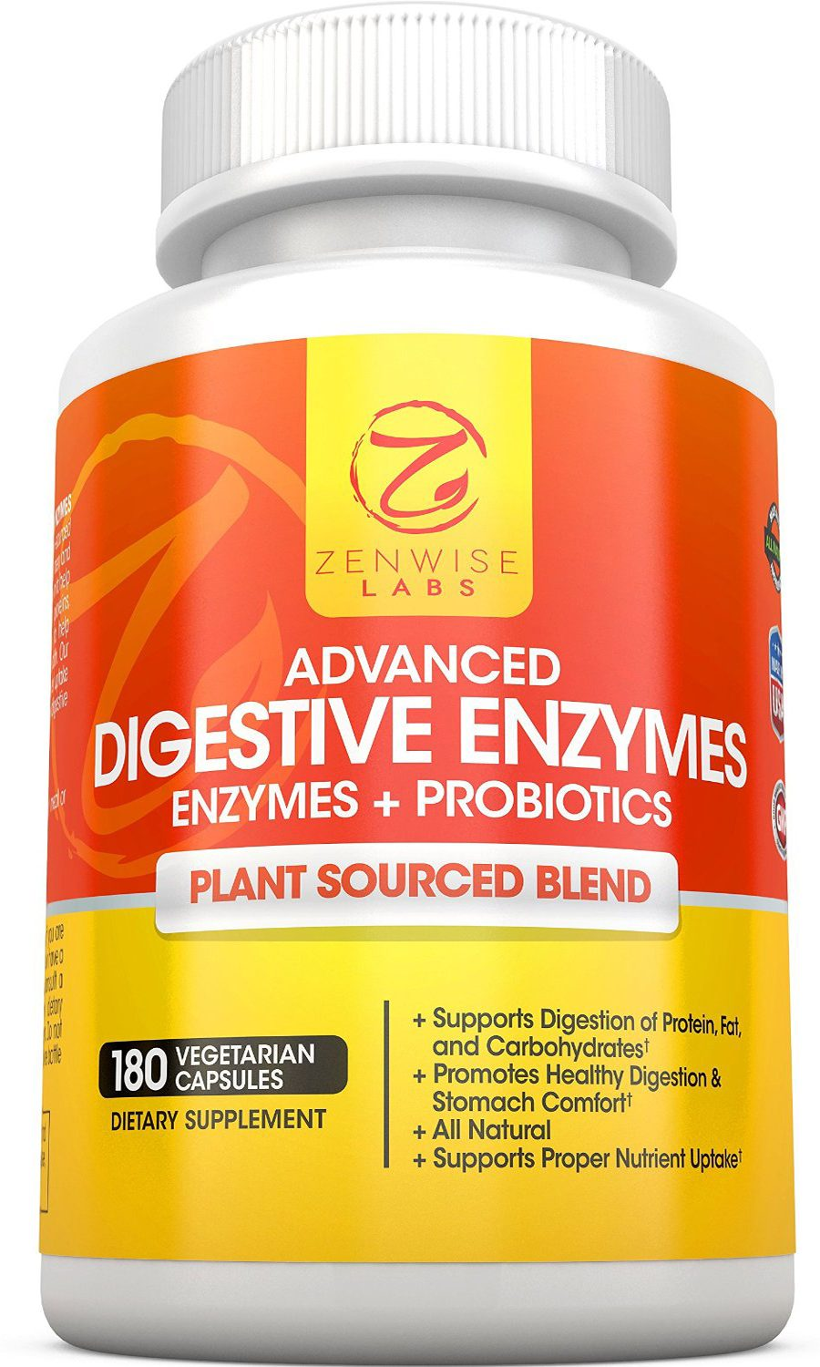Zenwise Labs Digestive Enzymes with Prebiotics and Probiotics