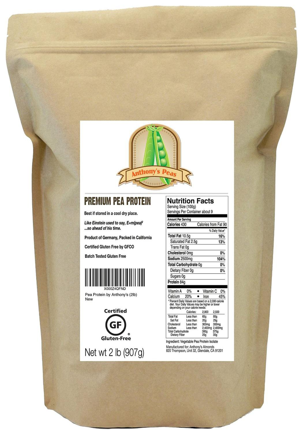 Germany by Anthony's Pea Protein Powder