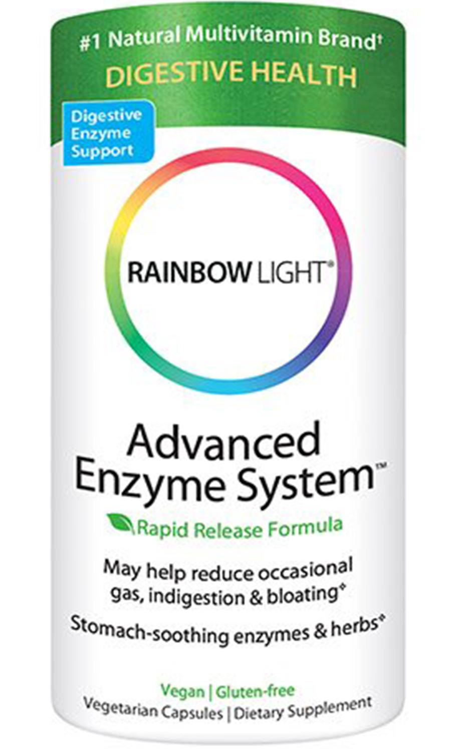 Rainbow Light Advanced Enzyme System Plant-Source Vcaps