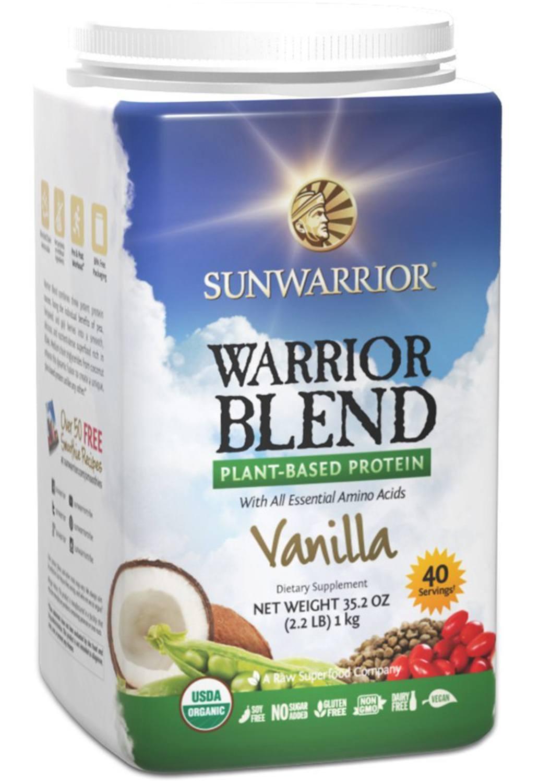 Sunwarrior - Warrior Blend, Raw, Plant-Based Vegan Protein Powder