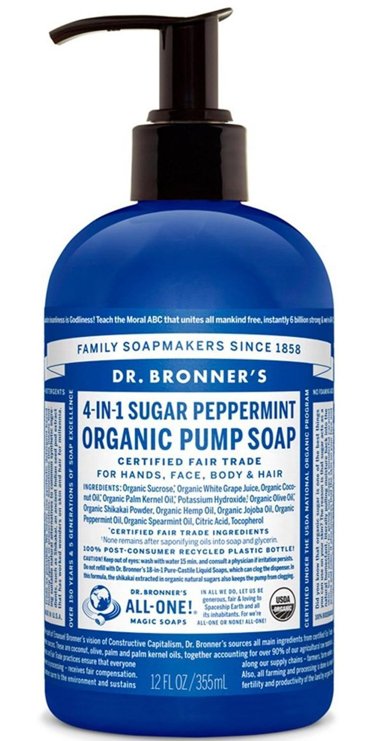 Dr. Bronner's Fair Trade & Organic Shikakai Hand & Body Pump Soap