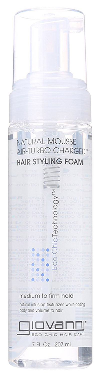 Giovanni Hair Styling Foam, Natural Mousse Air-Turbo Charged