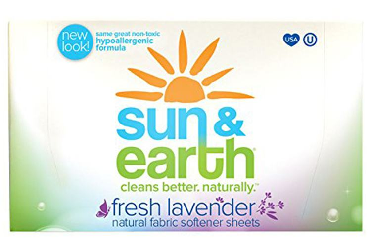 Sun & Earth Natural Hypoallergenic Fabric Softener Sheets