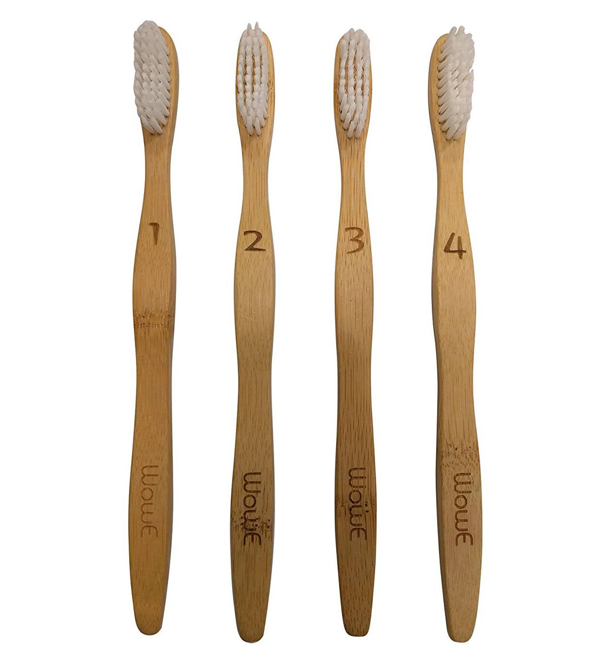 WowE LifeStyle Natural Bamboo Toothbrushes