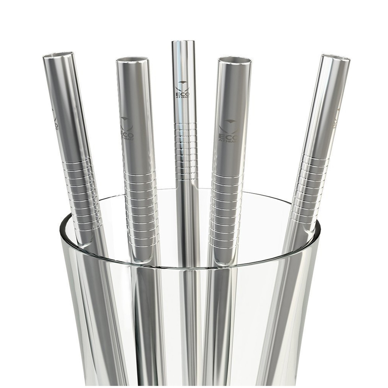Reusable Metal Stainless Steel Wide Smoothie Straws