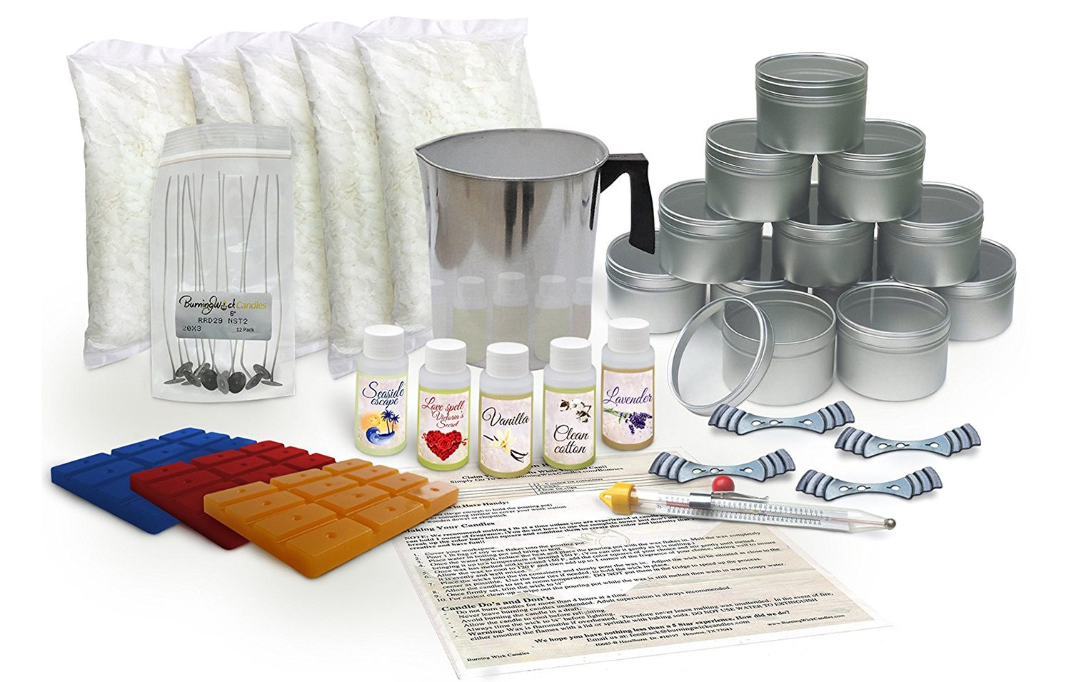 Burning Wick Candles Soy Candle Wax Making Kit