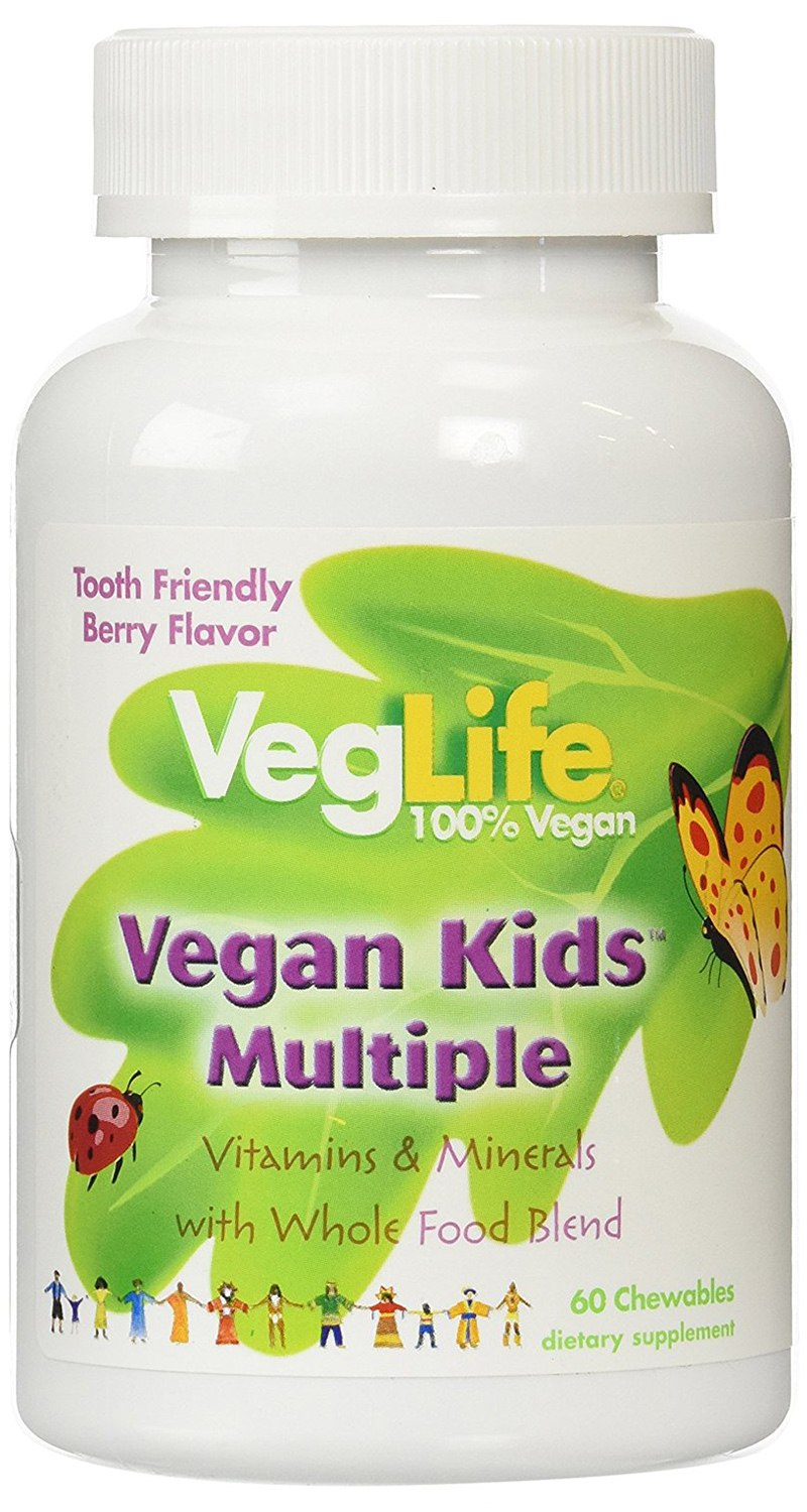VegLife Multiple Vegan for Kids Chewable Tablets
