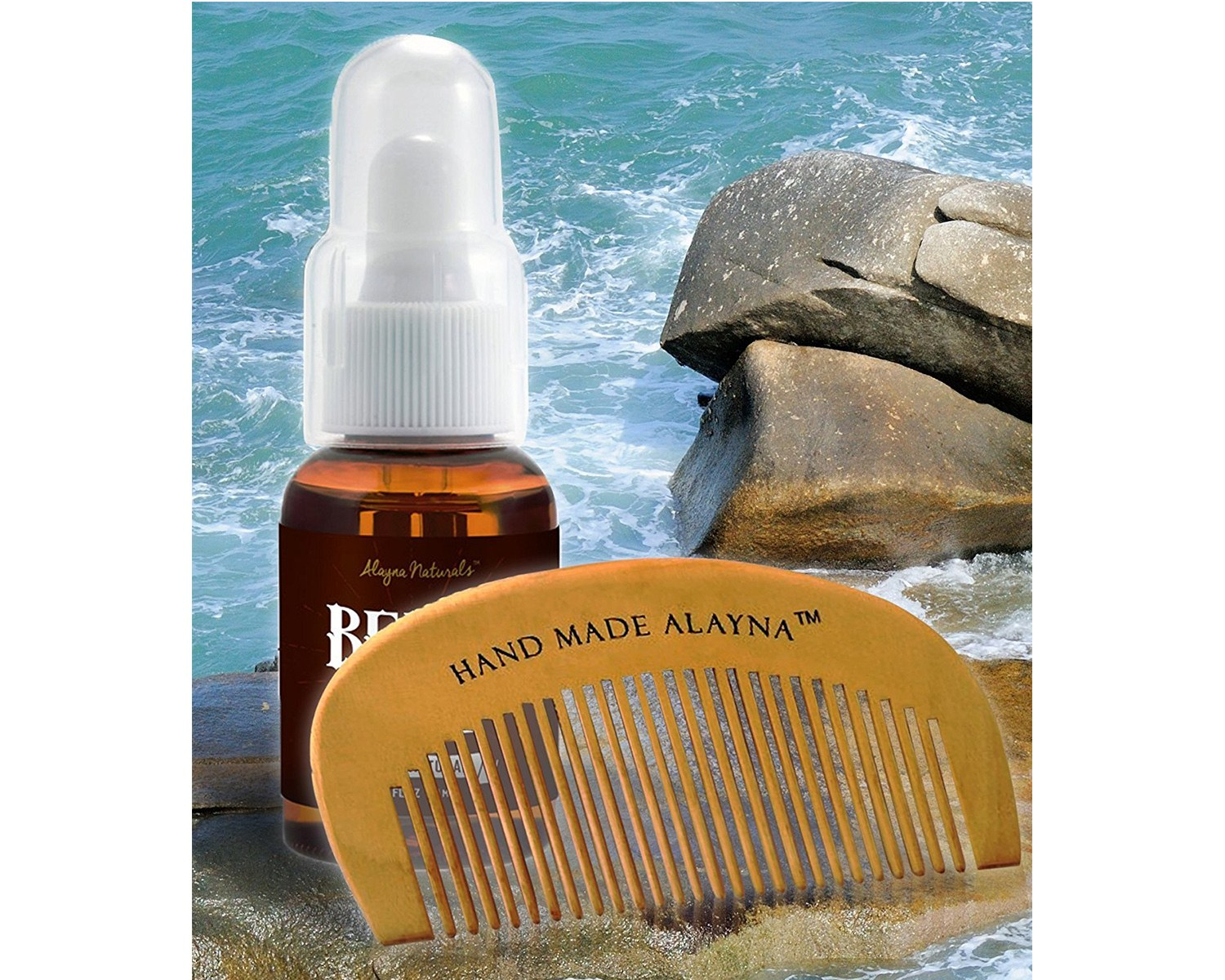 Alayna Organic Naturals Beard Oil and Leave-In Conditioner