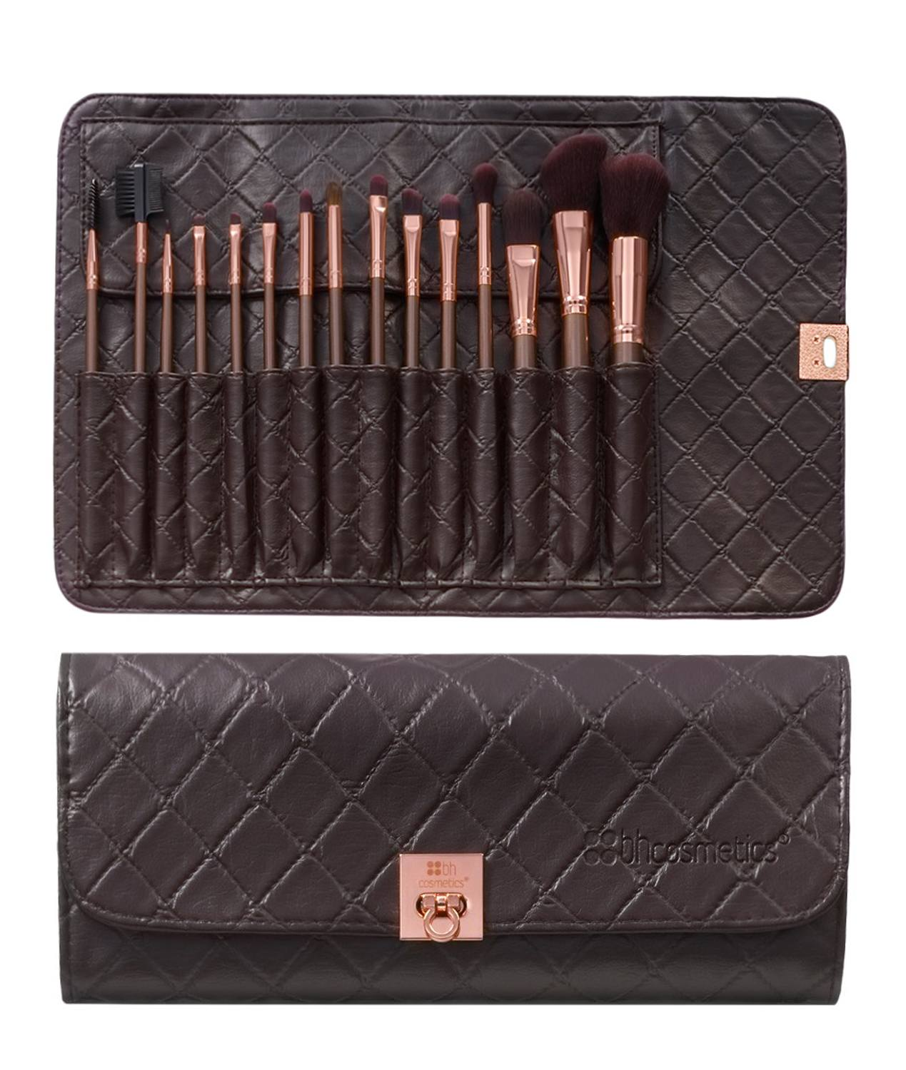 BH Cosmetics 15 pc Rose Gold Vegan Brush Set