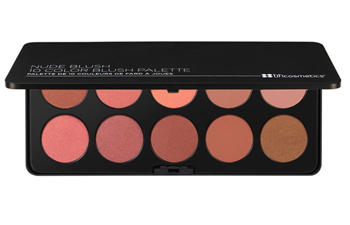 BH Costmetics Nude 10 Color Blush Palette