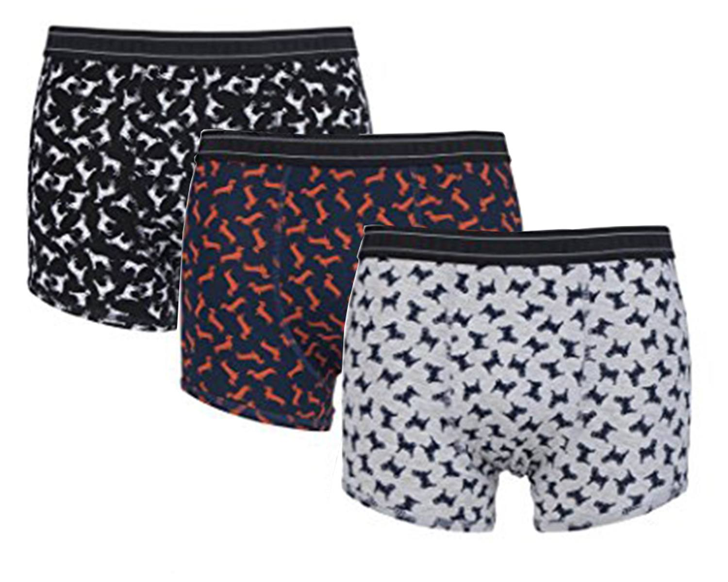Mens 3 Pack Braintree Dog Design Bamboo and Organic Cotton Boxer Shorts