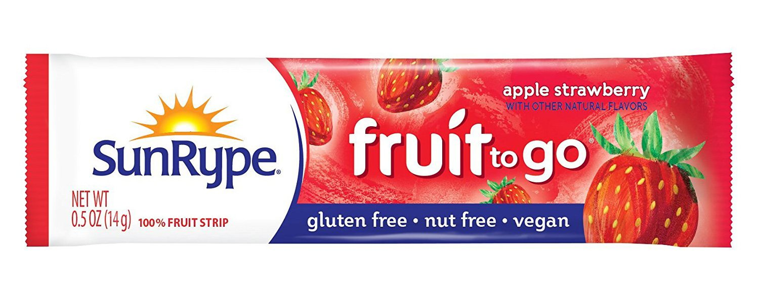 SunRype Apple Strawberry Fruit Strip Snacks