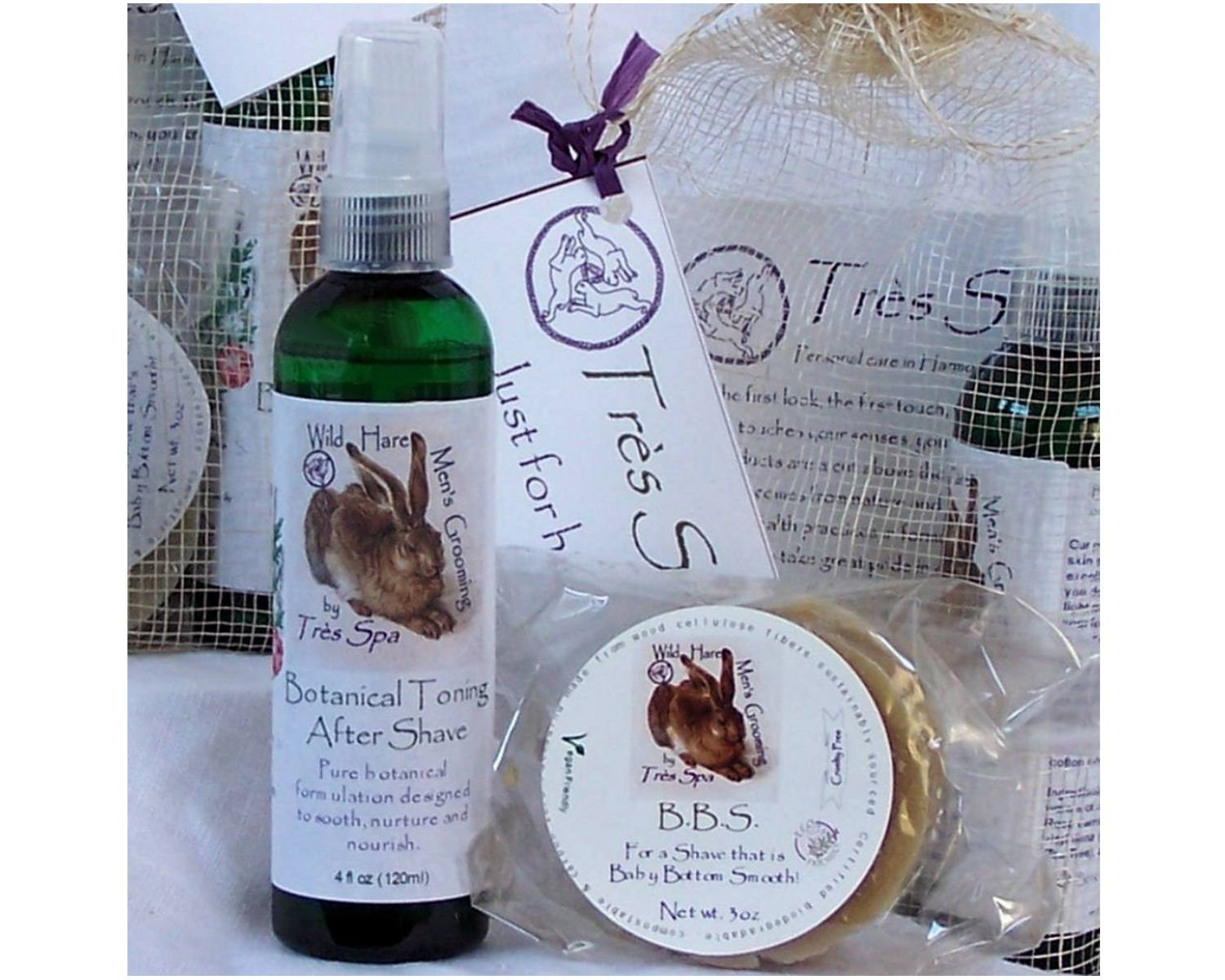 Très Spa Gift Set Wild Hare Men's Grooming Pair