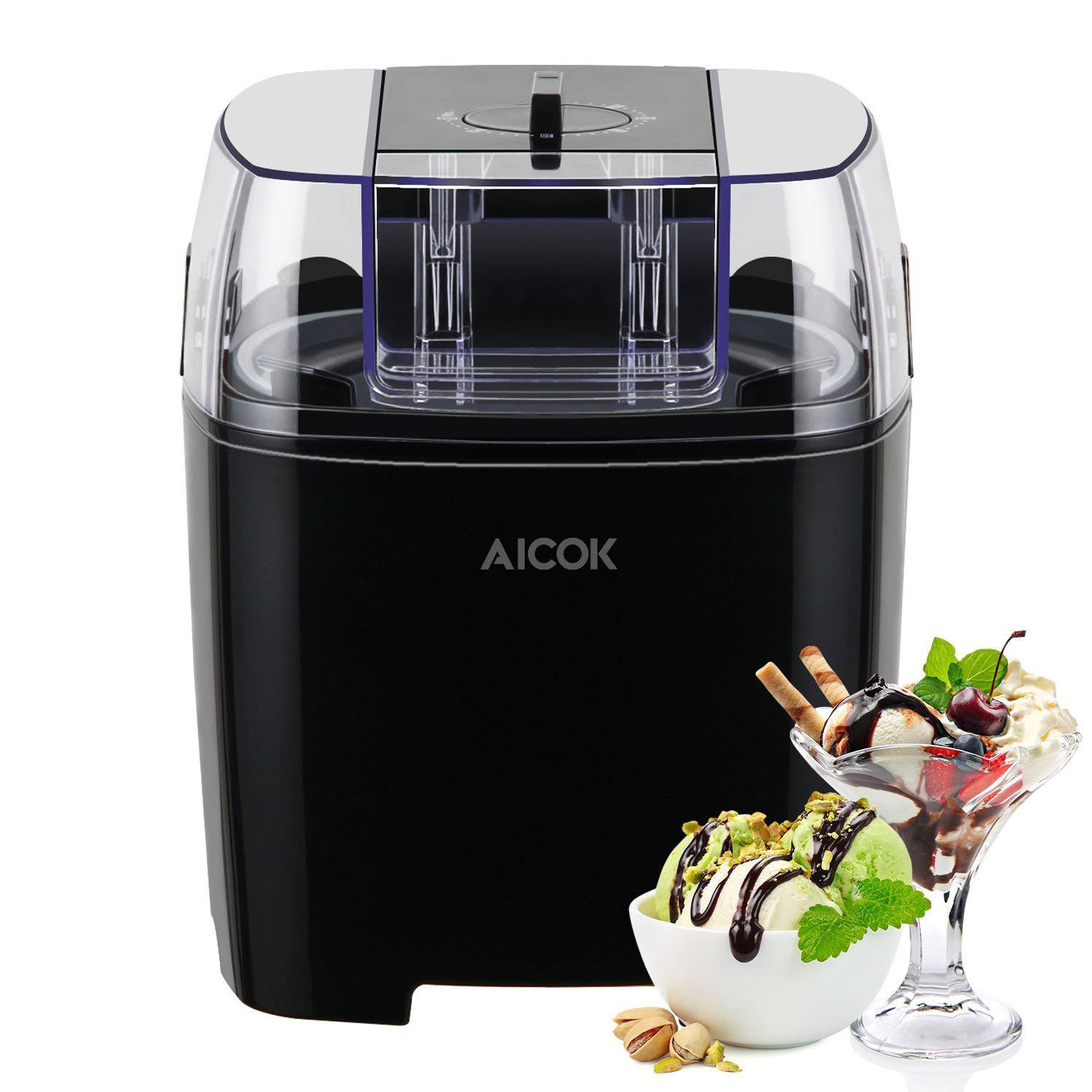 Aicok Home Ice Cream Maker Machine Plus Frozen Yogurt and Sorbet