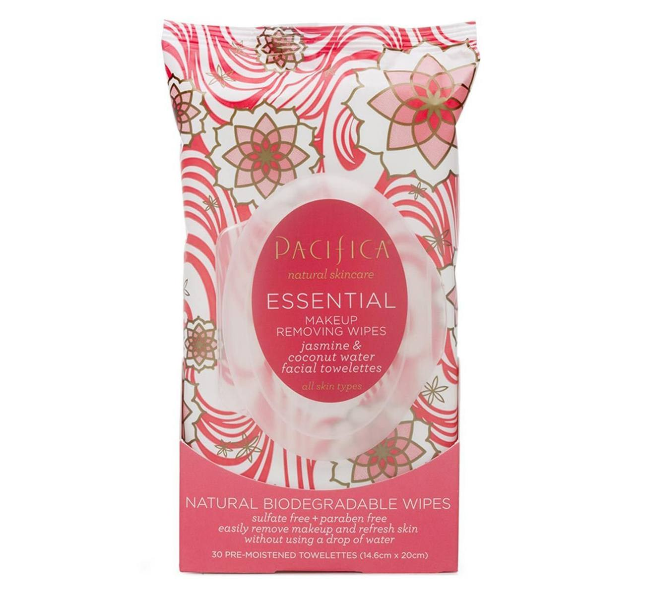 Pacifica Essential Vegan Makeup Remover Wipes