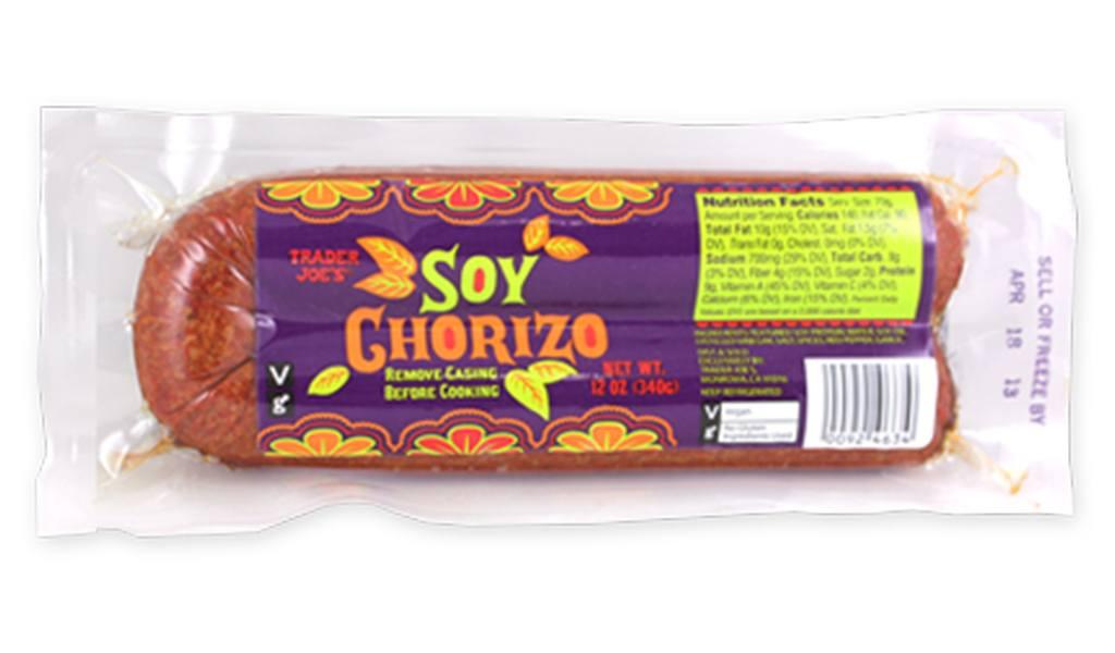 Trader Joes Soy Chorizo Sausage