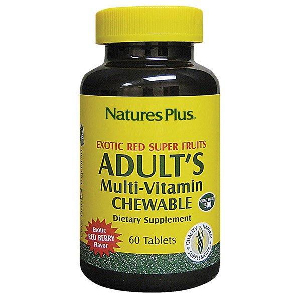 Nature's Plus - Adult's Multi-Vitamin Chewable - Pineapple Flavor, 180 tablets